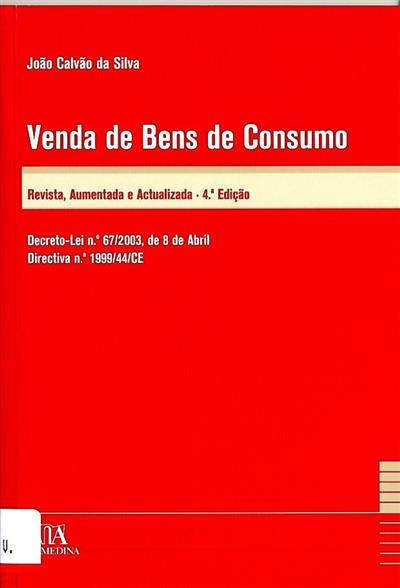 Venda de bens de consumo (coment. João Calvão da Silva)
