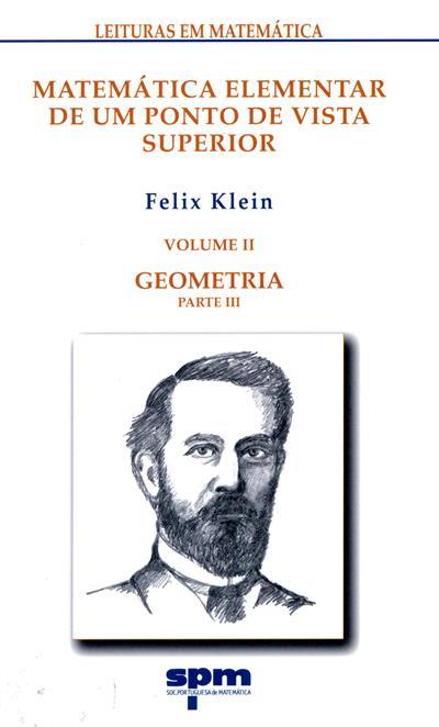 Matemática elementar de um ponto de vista superior (Felix Klein)