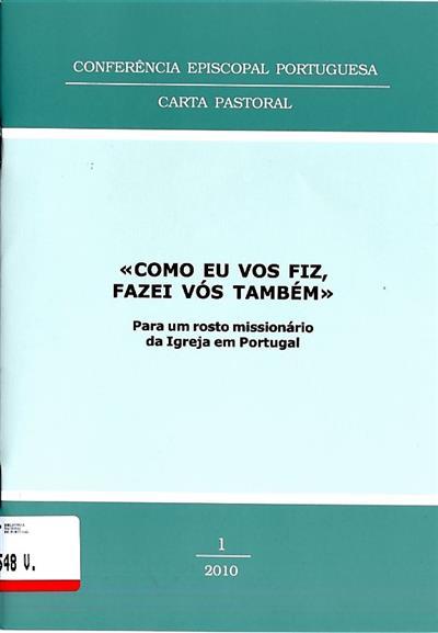 """""""Como eu vos fiz, fazei vós também"""" (Conferência Episcopal Portuguesa)"""