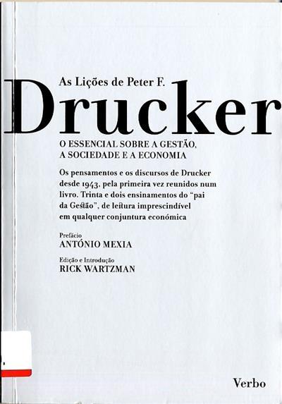 As lições de Peter F. Drucker (pref. António Mexia)