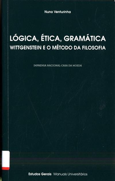 Lógica, ética, gramática (Nuno Venturinha)