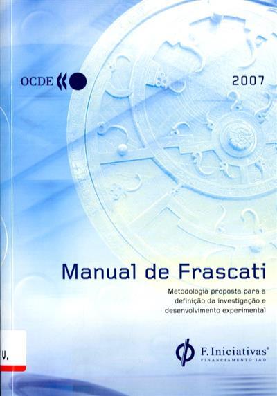 Manual de Frascati (OCDE - Organização para a Cooperação e Desenvolvimeto Económico)