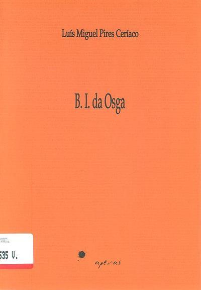 B.I. da osga (Luís Miguel Pires Ceríaco)