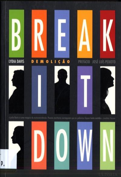 Break it down (Lydia Davis)