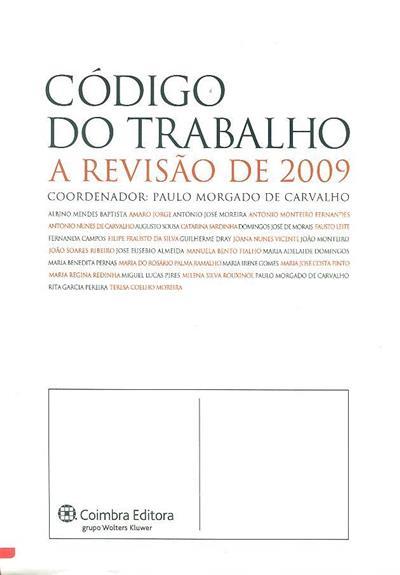 Código do trabalho (coord. Paulo Morgado de Carvalho)