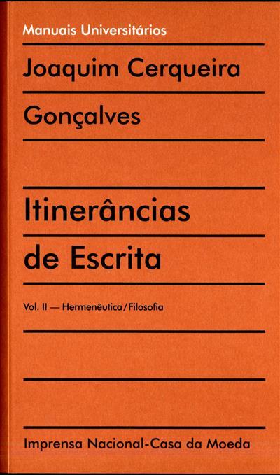 Itinerâncias de escrita (Joaquim Cerqueira Gonçalves)