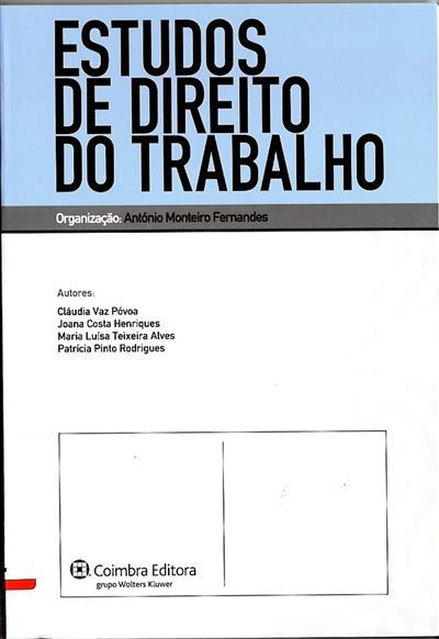 Estudos de direito do trabalho (Cláudia Vaz Póvoa... [et al.])