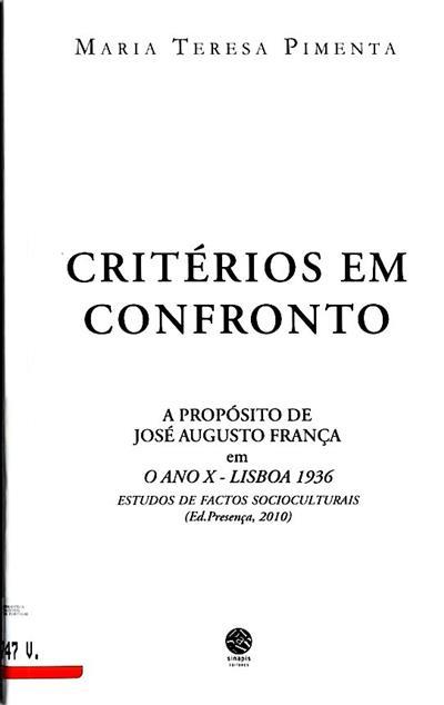Critérios em confronto (Maria Teresa Pimenta)