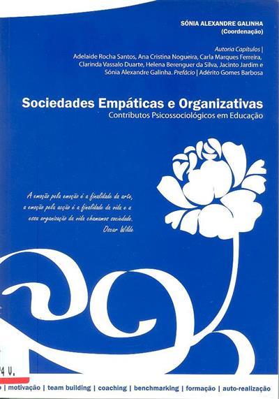 Sociedades empáticas e organizativas (Adelaide Rocha Santos... [et al.])