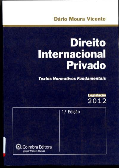 Direito internacional privado ([compil.] Dário Moura Vicente)