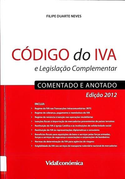 Código do IVA ([coment.] Filipe Duarte Neves)