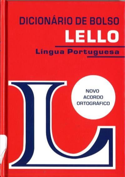 Dicionário de bolso Lello de língua portuguesa