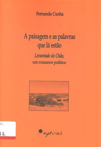 A paisagem e as palavras que lá estão (Fernanda Cunha)