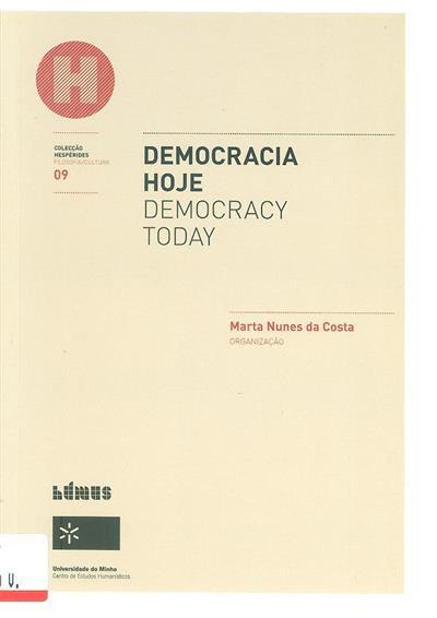Democracia hoje (org. Marta Nunes da Costa)
