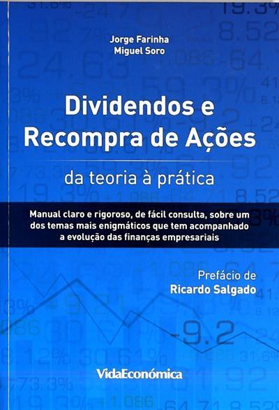 Dividendos e recompra de ações (Jorge Farinha, Miguel Soro)