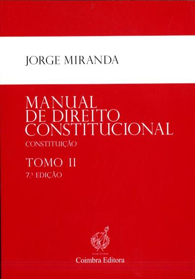 Manual de direito constitucional (Jorge Miranda)
