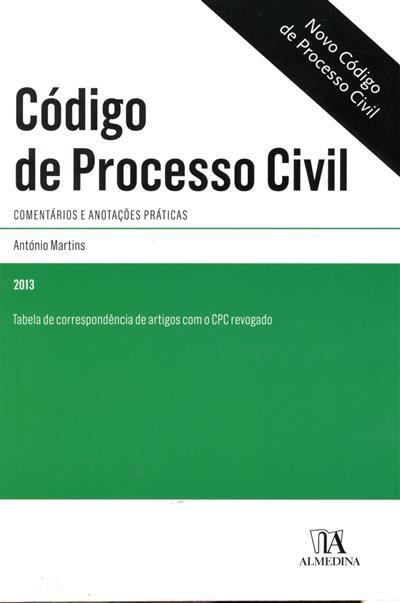 Código de processo civil (António Martins)