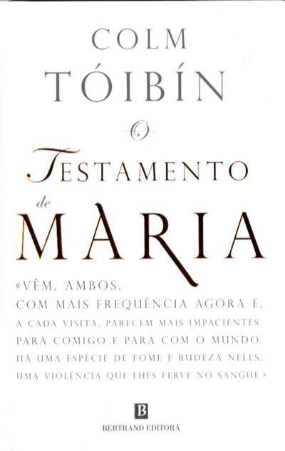 O testamento de Maria (Colm Tóibín)