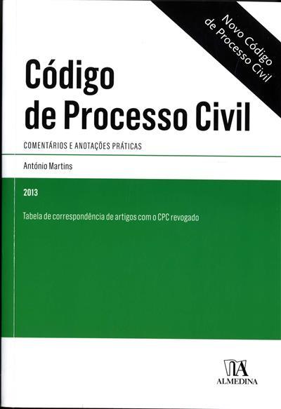 Código de processo civil (coord. António Martins)