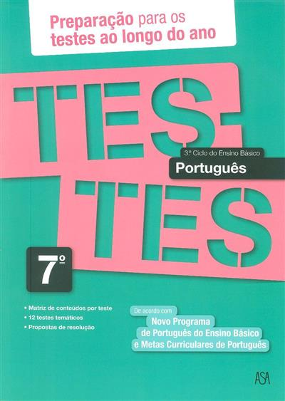 Testes português, 7º ano (Isabel Castiajo)