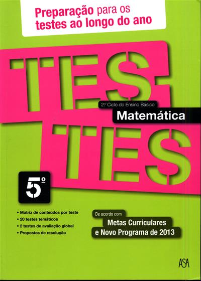 Testes matemática, 5º ano (Rosa Castiajo)