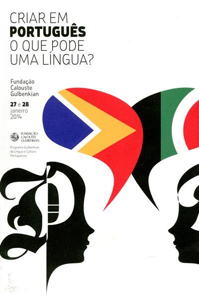 """Criar em português (Colóquio  """"Criar..."""")"""
