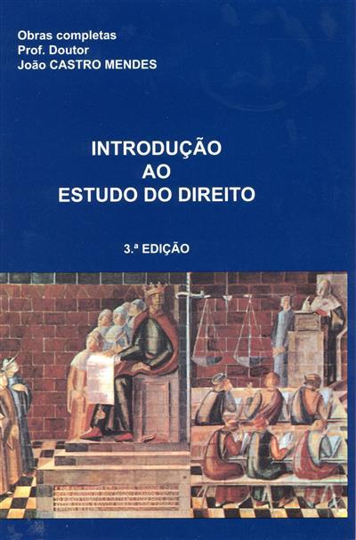 Introdução ao estudo do direito (João de Castro Mendes)