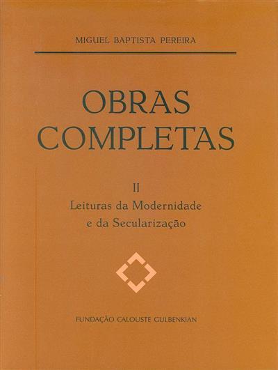 Obras completas de Miguel Baptista Pereira