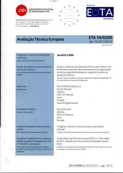 Avaliação técnica europeia (Laboratório Nacional de Engenharia Civil)