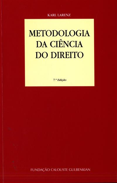 Metodologia da ciência do direito (Karl Larenz)