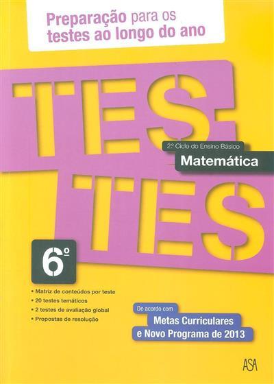 Testes matemática 6º (Rosa Castiajo)
