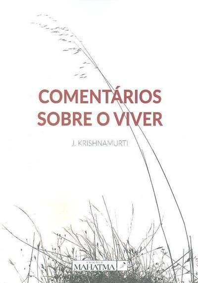 Comentários sobre o viver (J. Krishnamurti)