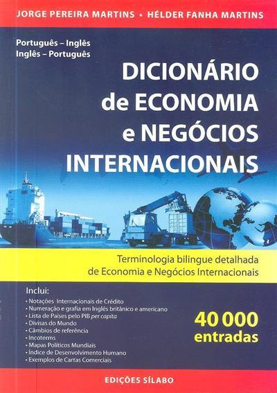 Dicionário de economia e negócios internacionais (Jorge Pereira Martins, Hélder Fanha Martins)