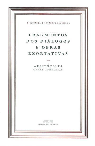 Fragmentos dos diálogos e obras exortativas (Aristóteles)