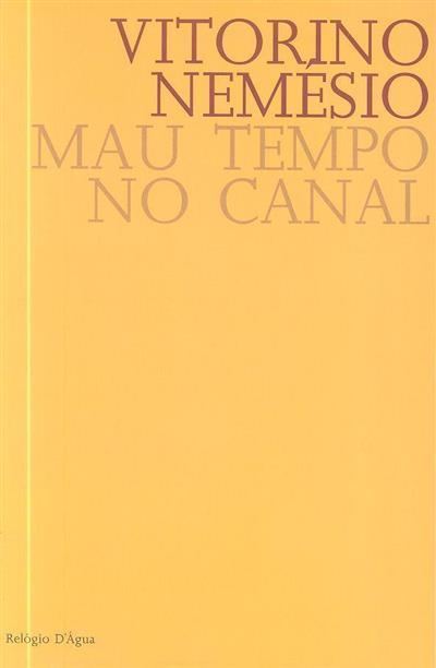 Mau tempo no canal (Vitorino Nemésio)