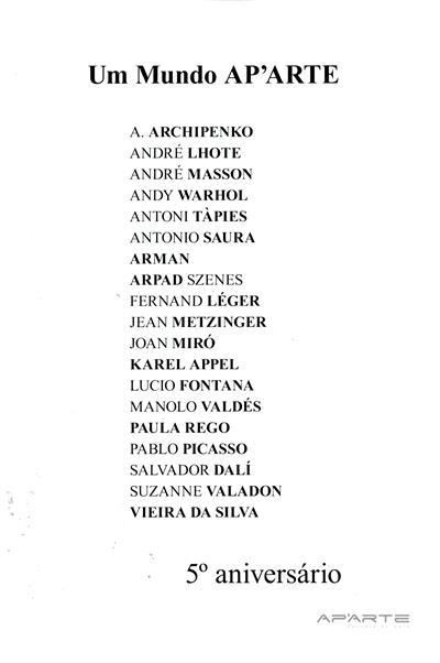 Um mundo AP'ARTE (curador Tiago Feijóo)