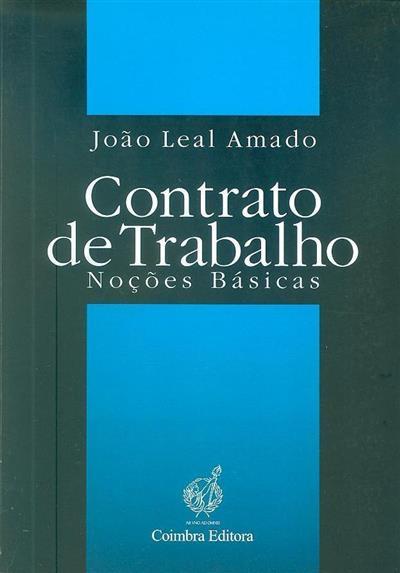 Contrato de trabalho ([compil.] João Leal Amado)
