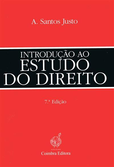 Introdução ao estudo do direito (A. Santos Justo)