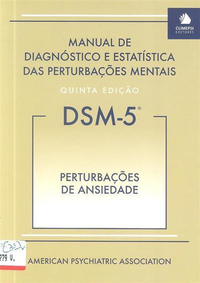 Perturbações de ansiedade (ed. portuguesa João Cabral Fernandes)