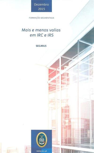Mais e menos-valias em IRC e IRS (André Alpoim Vasconcelos, Cristina Pinto)