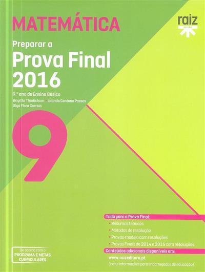 Preparar a prova final 2016 (Brigitte Thudichum, Iolanda Centeno Passos, Olga Flora Correia)