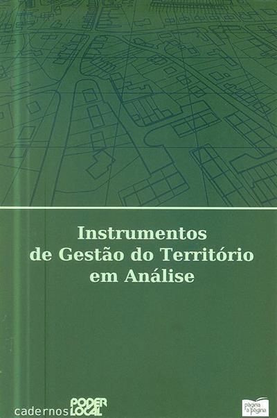 Instrumentos de gestão do território em análise