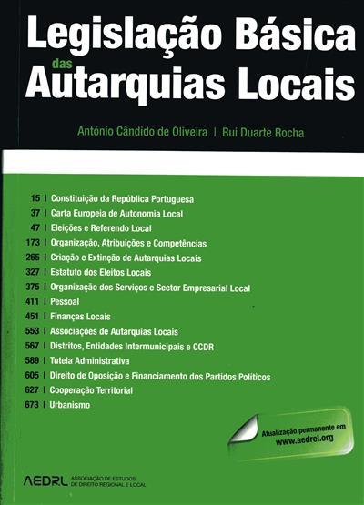 Legislação básica das autarquias locais ([compil.] Antonio Cândido de Oliveira, Rui Duarte Rocha)