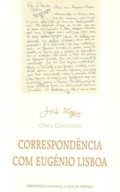 Correspondência com Eugénio Lisboa (José Régio)