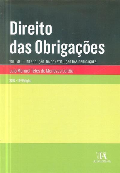 Direito das obrigações (Luís Manuel Teles de Menezes Leitão)