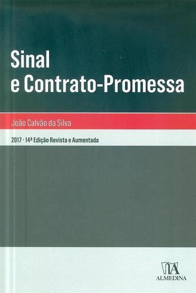 Sinal e contrato-promessa (João Calvão da Silva)