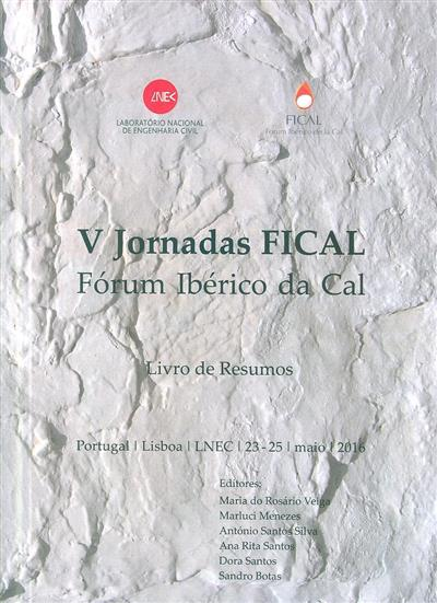 V Jornadas FICAL (org. Fórum Ibérico da Cal)