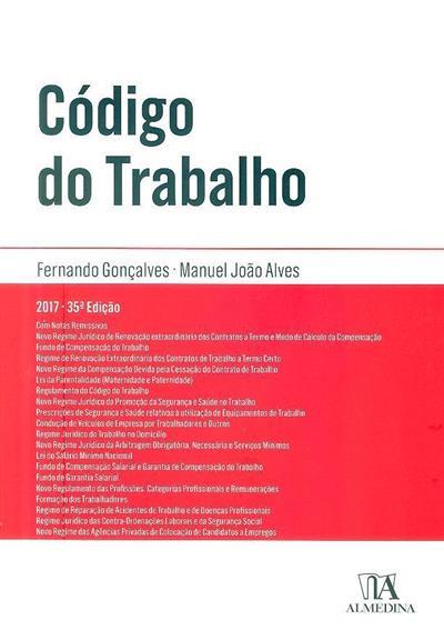 Código do trabalho (Fernando Gonçalves, Manuel João Alves)
