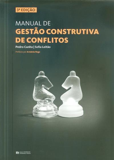 Manual de gestão construtiva de conflitos (Pedro Cunha, Sofia Leitão)