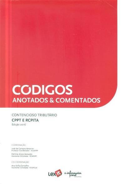 Códigos anotados & comentados (coord. José de Campos Amorim, Patrícia Anjos Azevedo, Ana Sofiua Carvalho)